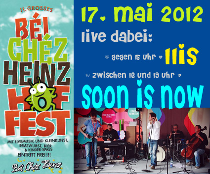 ★ soon is now gibts live zu himmelfahrt ★